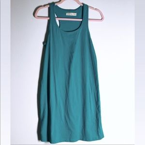 Faded Glory Solid Teal Tank Dress